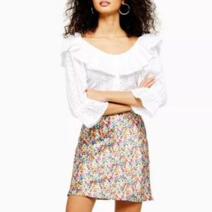 Ditsy Floral Bias Mini Skirt